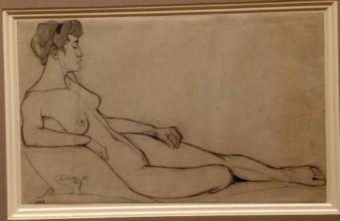 schiele reclining nude