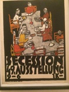 schiele secession poster
