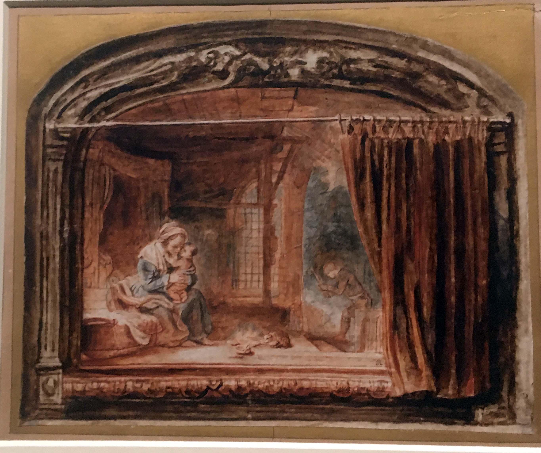 Nicolaes Maes Curtain