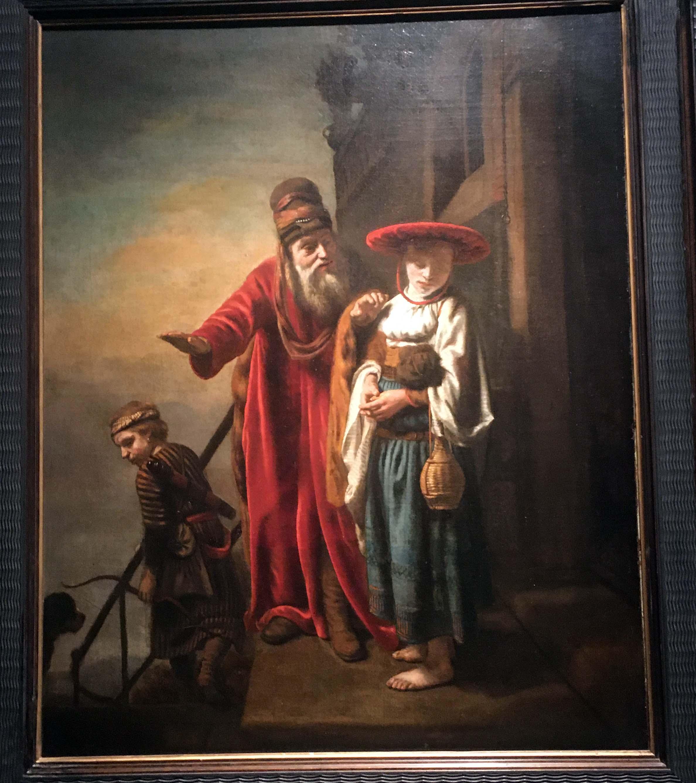 Nicolaes Maes, Abraham Dismissing Hagar and Ishmael