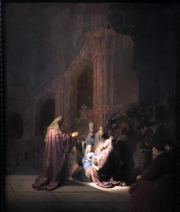 Rembrandt Simeon in the Temple